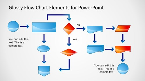 small resolution of flow chart powerpoint slide glossy style