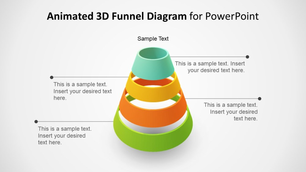 medium resolution of template of funnel diagram 3d animated funnel design