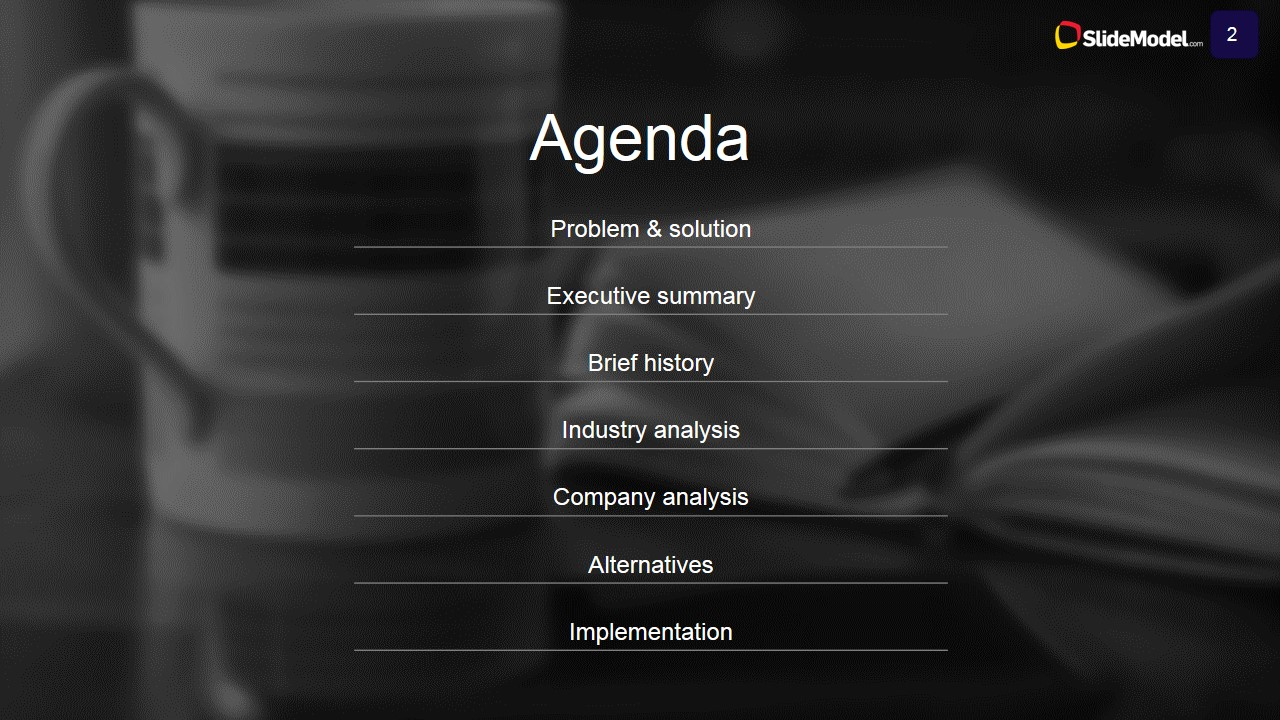 Case Study Analysis Agenda SlideModel