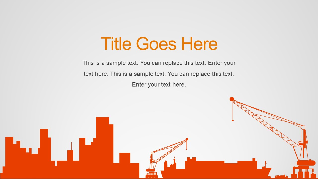 Construction PowerPoint Shapes SlideModel