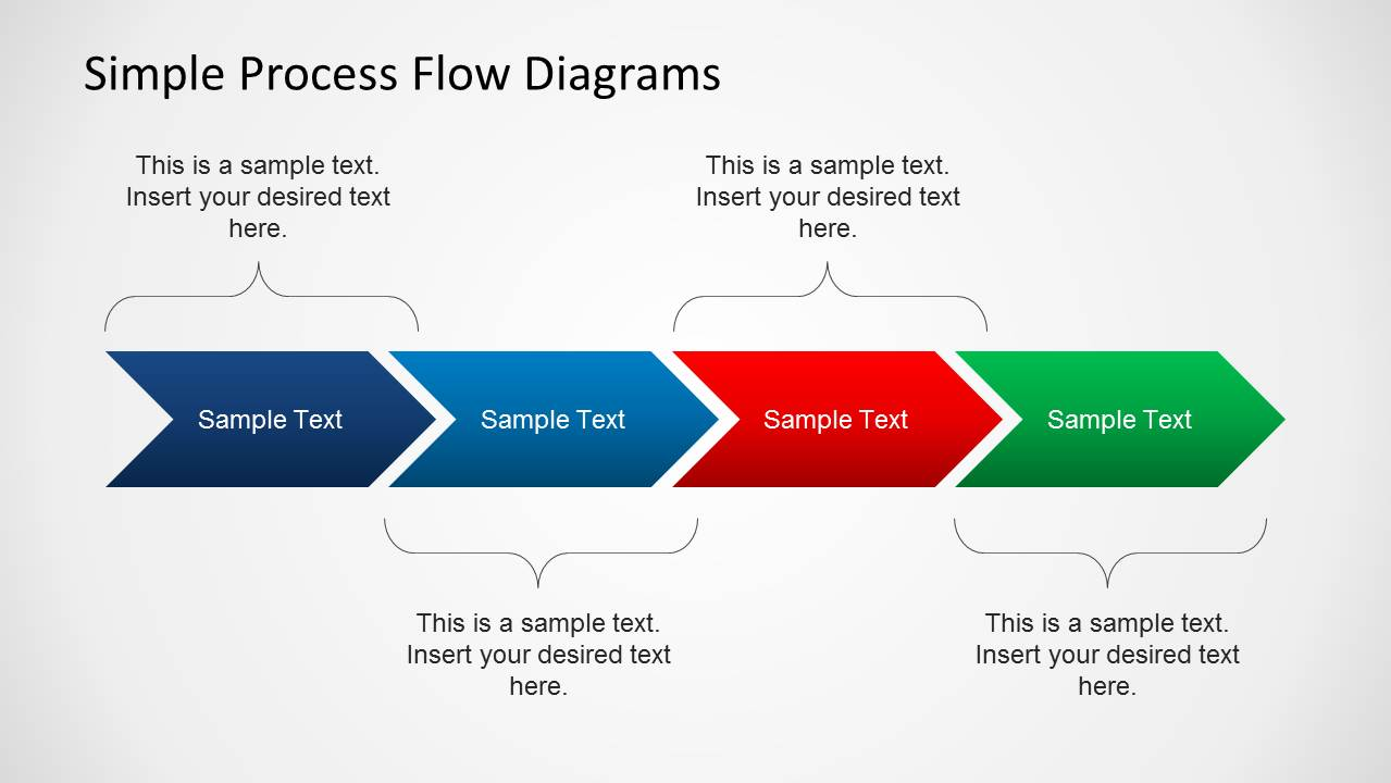 hight resolution of simple chevron process flow diagram for powerpoint