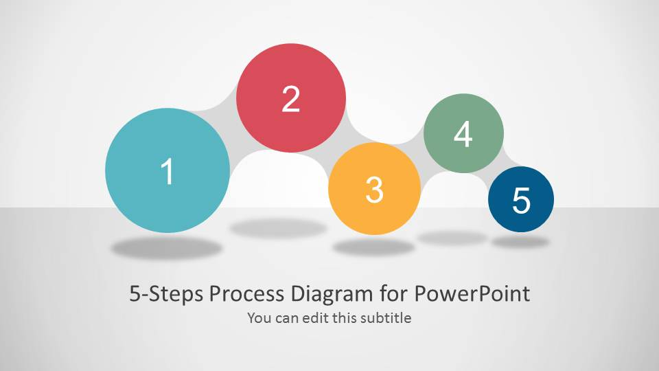 Awesome 5 Steps Process Diagram For Powerpoint  Slidemodel