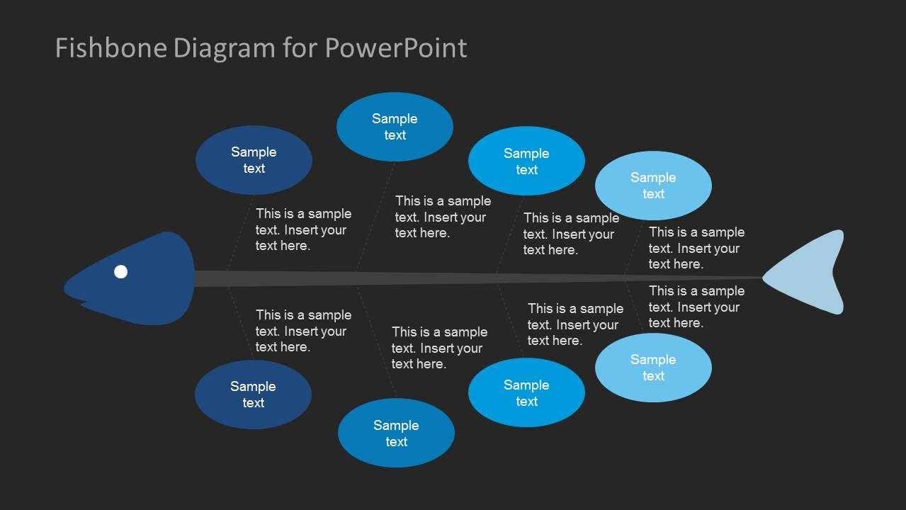 how to create a flow diagram driving light relay wiring fishbone for powerpoint - slidemodel