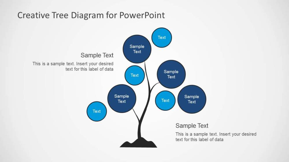 medium resolution of simple tree chart diagram design for powerpoint