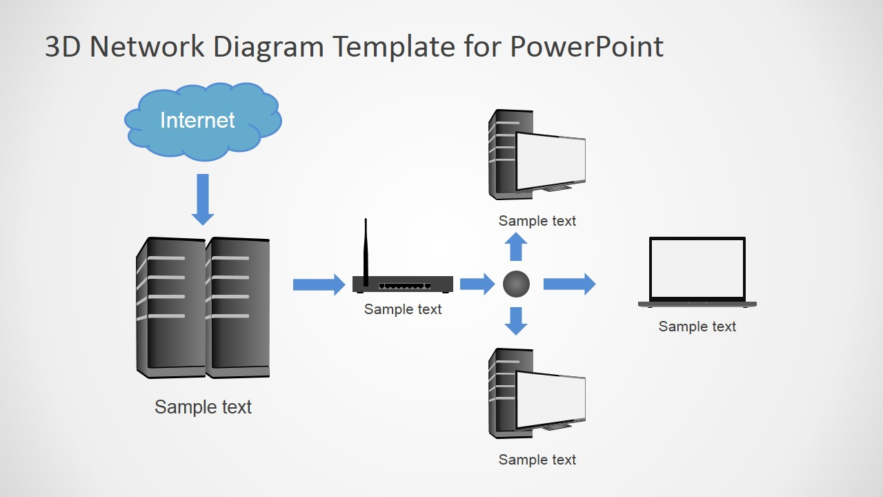 hight resolution of  diagram topology powerpoint template local area network
