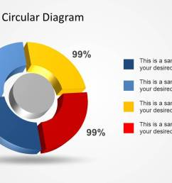 4 step 3d circular diagram template for powerpoint [ 1279 x 720 Pixel ]