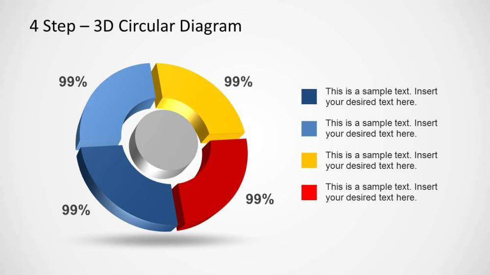 medium resolution of 4 step 3d circular diagram template for powerpoint