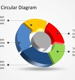 5 step 3d circular diagram template for powerpoint [ 1279 x 720 Pixel ]
