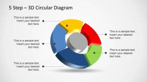 5 Step 3D Circular Diagram Template for PowerPoint