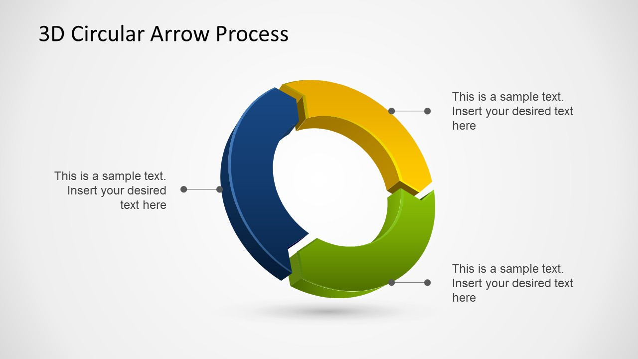 hight resolution of 3d circular arrow process diagrams for powerpoint