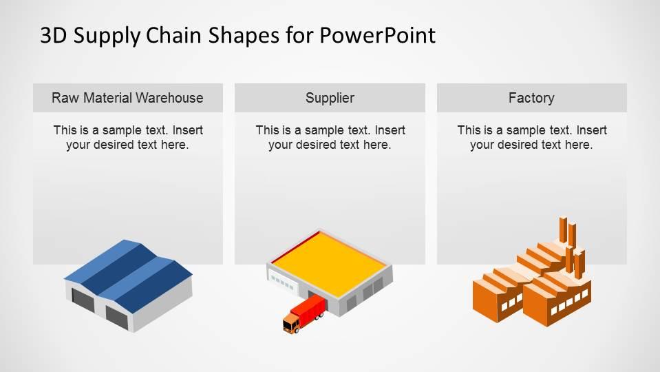 warehouse process flow diagram visio wiring stencil supplier factory supply chain slide - slidemodel