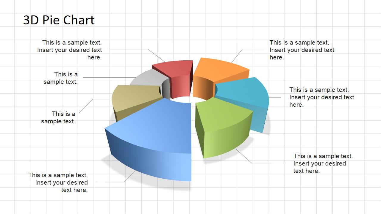3D Pie Chart Diagram For Powerpoint Slidemodel Rh Slidemodel Com Square Root  Of Pie Square Root