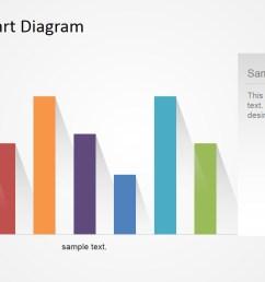 bar chart flat design with shadows [ 1280 x 720 Pixel ]
