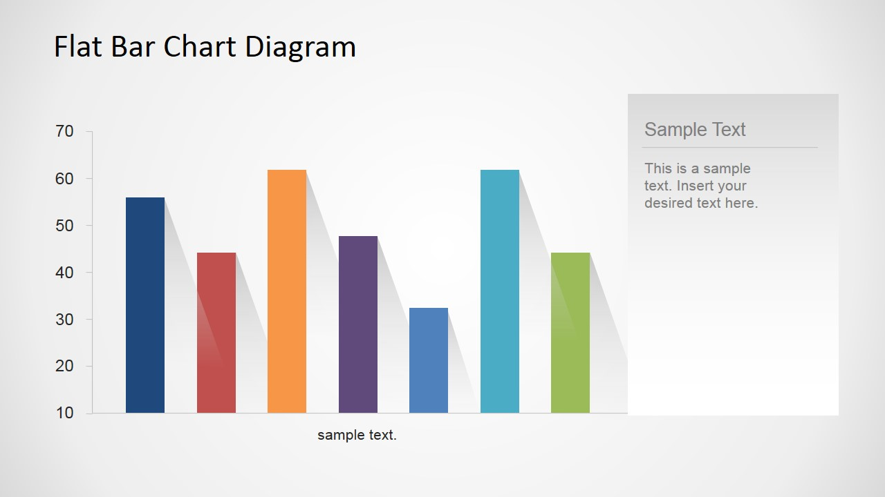 hight resolution of  bar chart flat design with shadows