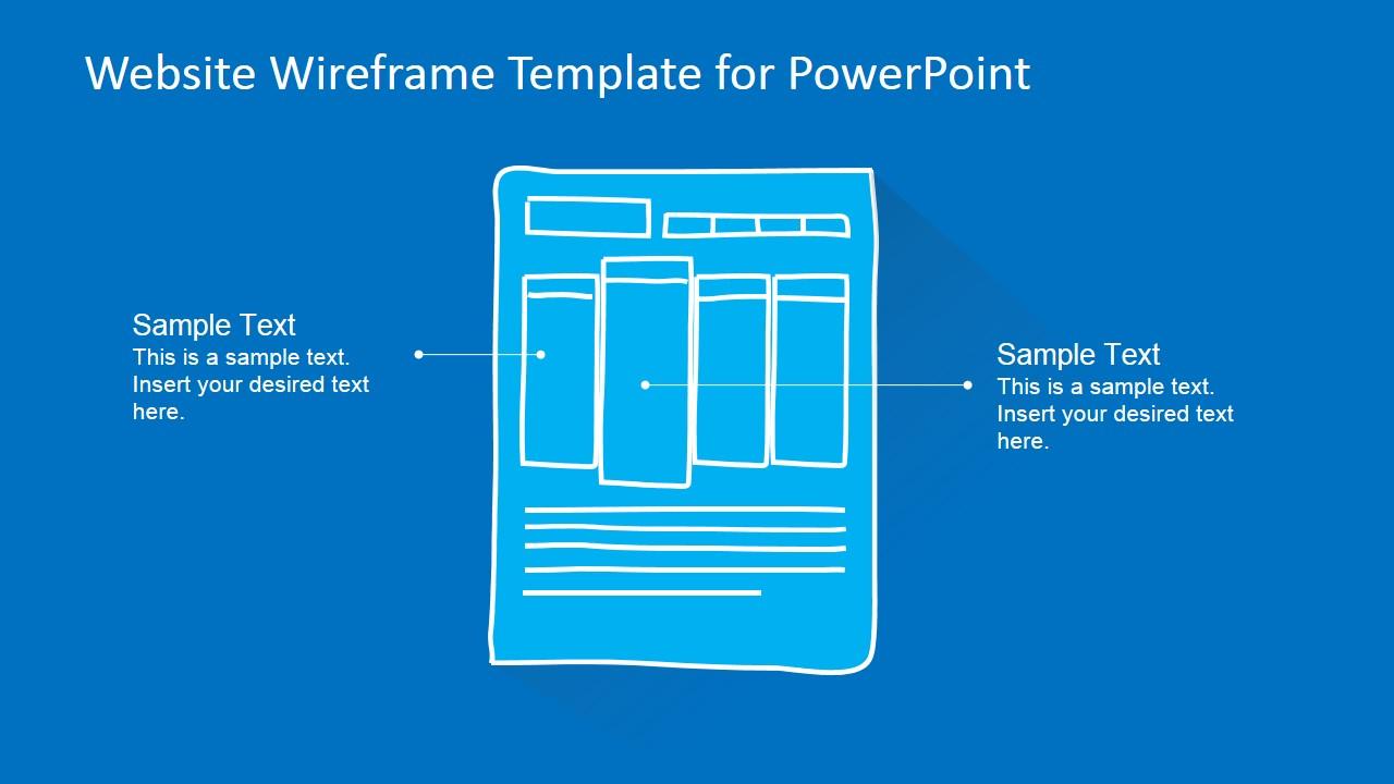 Website Wireframe Template For PowerPoint SlideModel