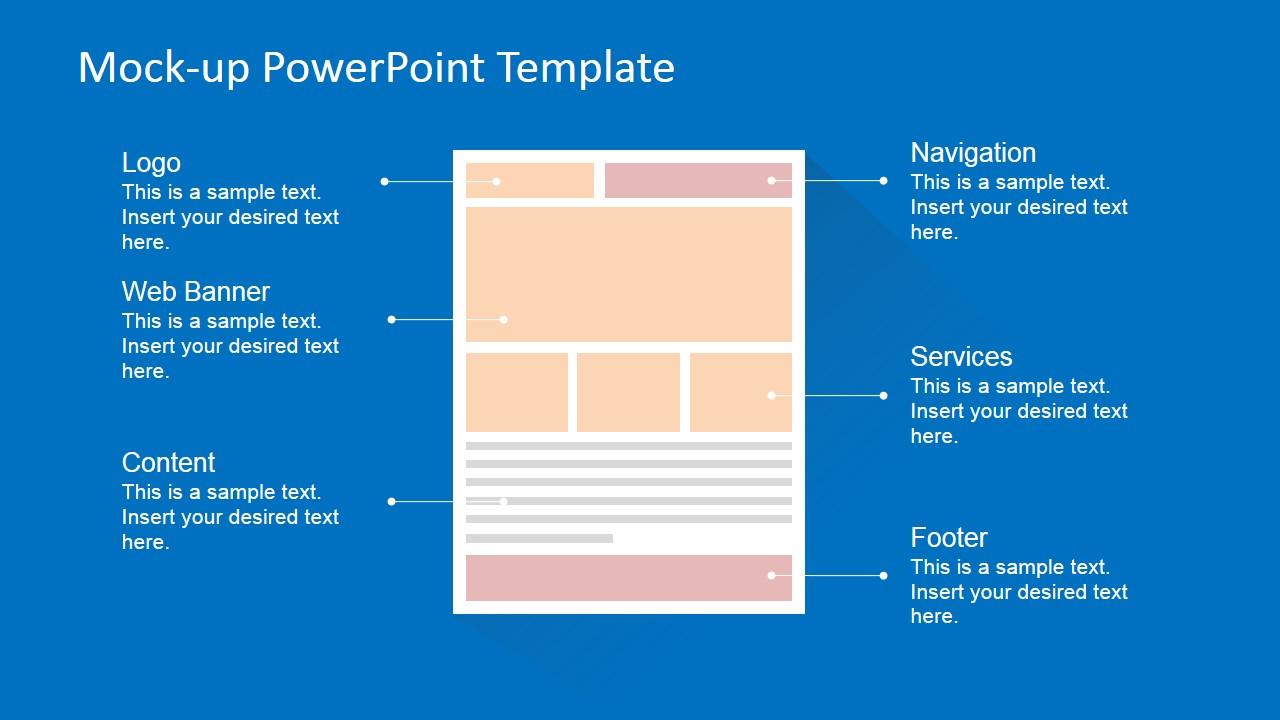 Flat Website Mockup Toolkit For PowerPoint SlideModel