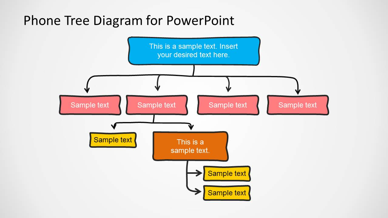 hight resolution of phone tree diagram powerpoint template