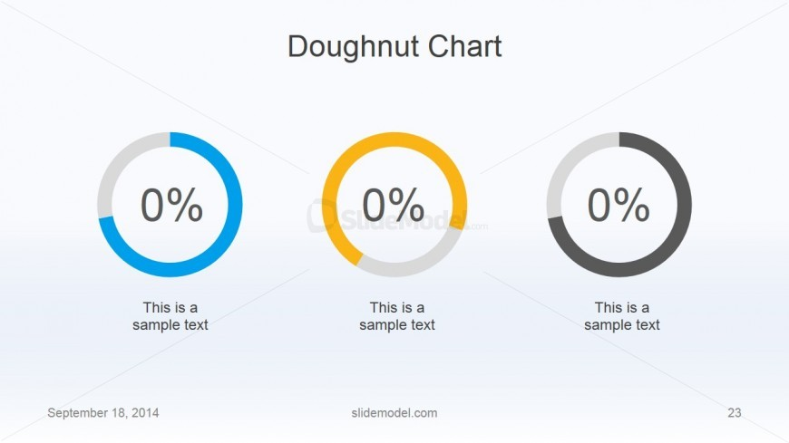 Flat Business Doughnut Chart Slide Design