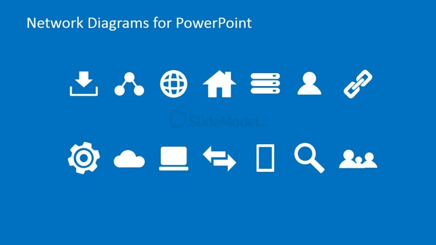 simple network powerpoint icons
