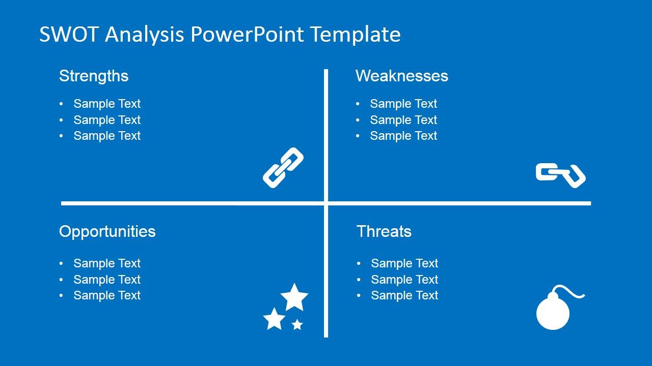 entity framework diagram bohr for boron flat swot analysis powerpoint template - slidemodel