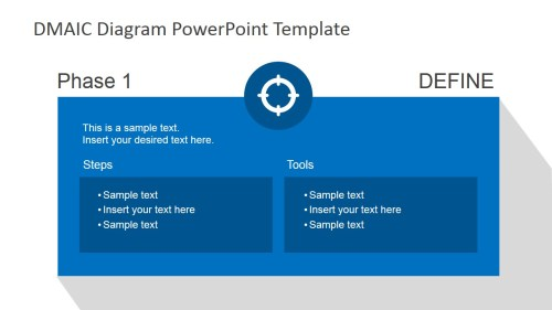 small resolution of flat dmaic process diagram for powerpoint dmaic define slide design for powerpoint