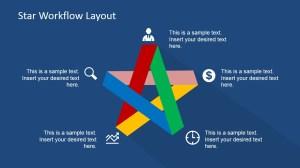 Five Steps Flat Star Diagram for PowerPoint  SlideModel