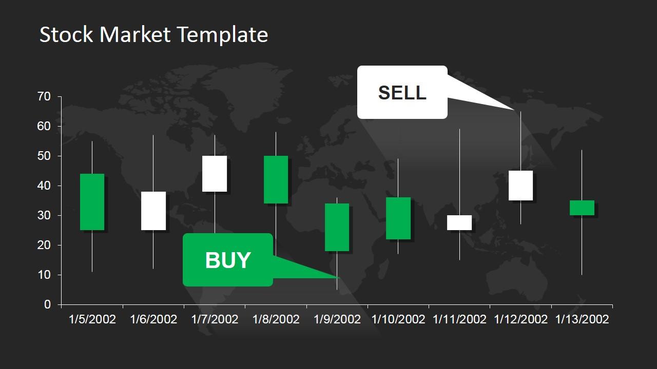 Graphic Tree Diagram Stock Market Powerpoint Template Slidemodel