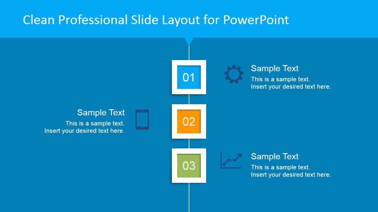 Clean Professional Vertical Layout for PowerPoint Blue