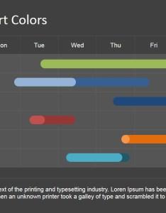Editable powerpoint gantt chart with tasks in different colors also for slidemodel rh