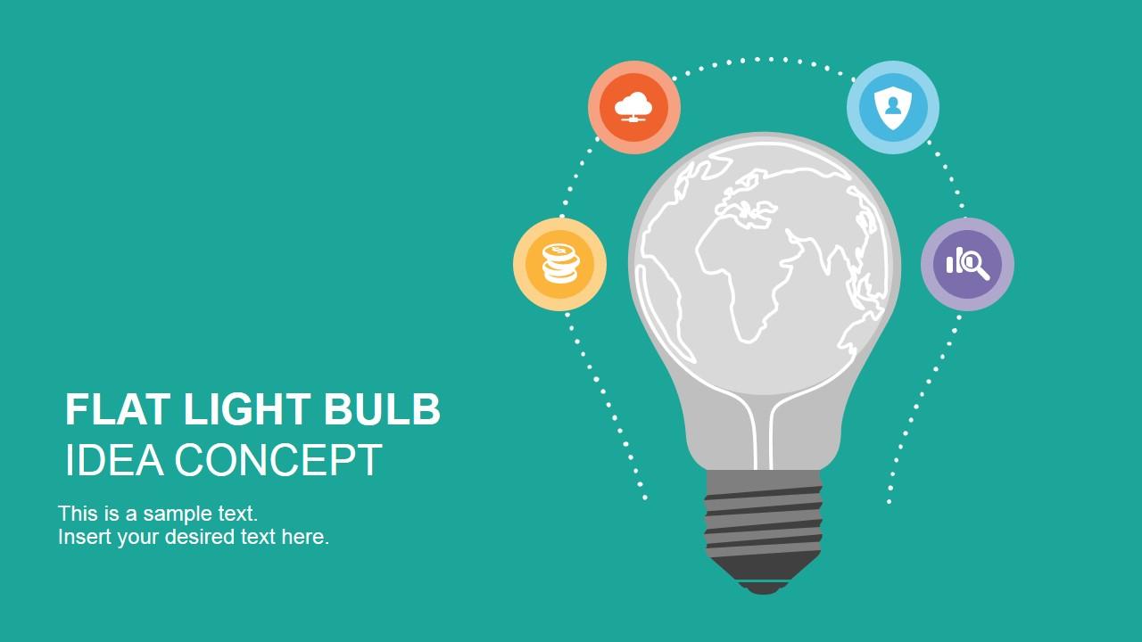 Programming Cute Wallpaper Flat Light Bulb Design Slidemodel
