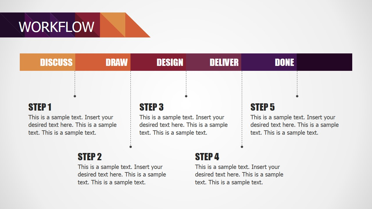 hight resolution of  deck powerpoint diagram for small business workflow