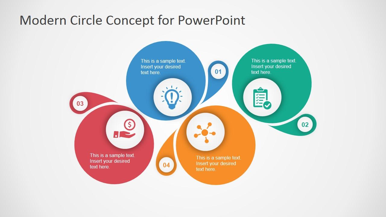 Modern Circle Diagram Template For PowerPoint SlideModel
