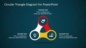 Circular Nodes Triangle Diagram for PowerPoint  SlideModel