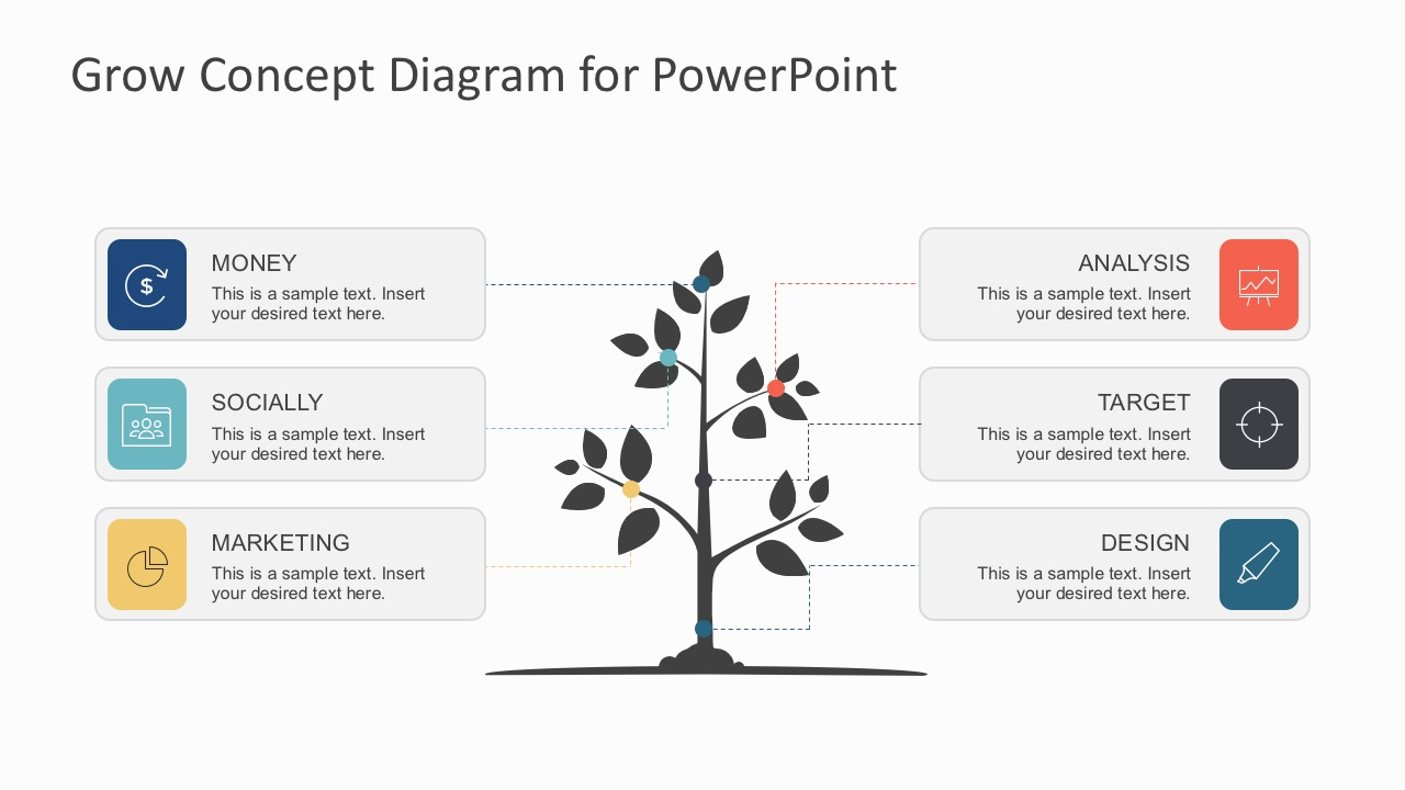 hight resolution of  growing tree business concept diagrams