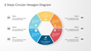 6 Steps Circular Hexagon Diagram