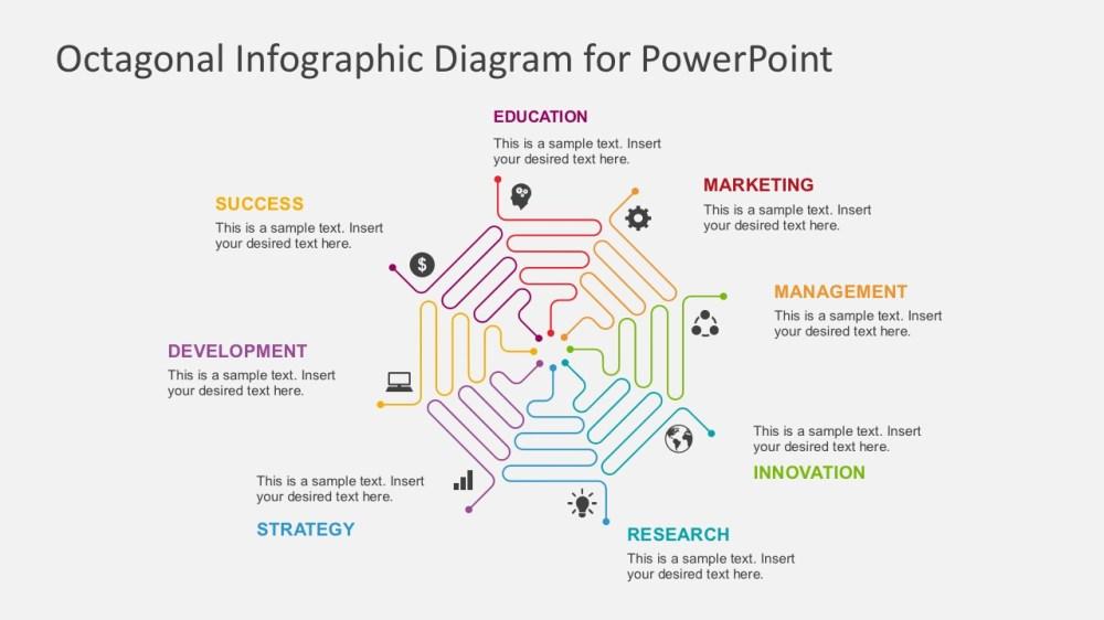 medium resolution of flat design process flow diagrams business powerpoint