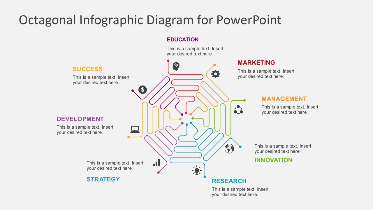 hight resolution of flat design process flow diagrams business powerpoint