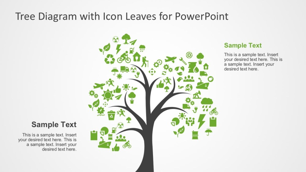 medium resolution of creative tree diagram with editable powerpoint icons