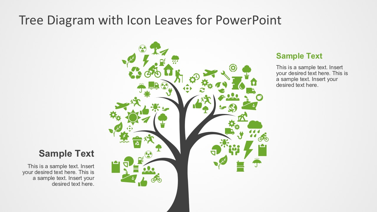 hight resolution of creative tree diagram with editable powerpoint icons