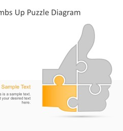 business thumbs up puzzle hand graphic template [ 1280 x 720 Pixel ]