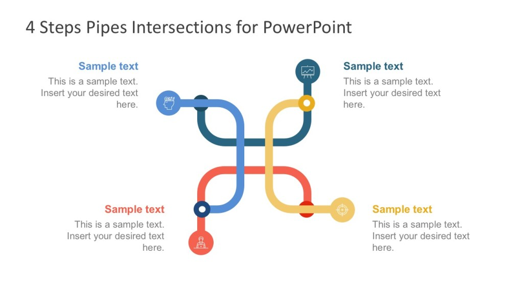 medium resolution of 4 steps pipe designed diagrams powerpoint