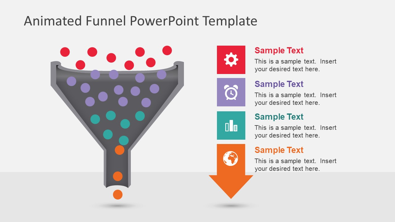 hight resolution of animated funnel diagram for powerpoint data pool processing ppt
