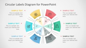 Circular Labels Six Steps PowerPoint Diagram  SlideModel
