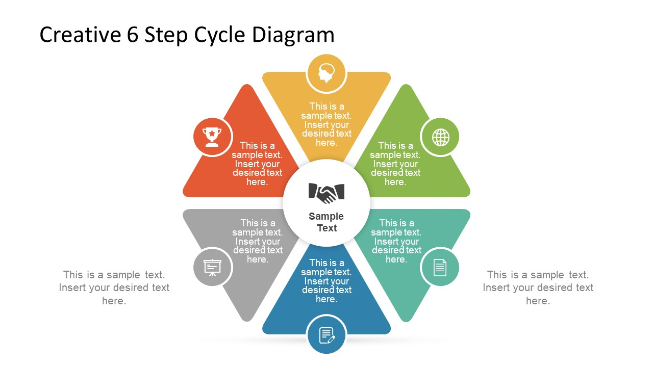 hight resolution of triangular steps of cycle diagram