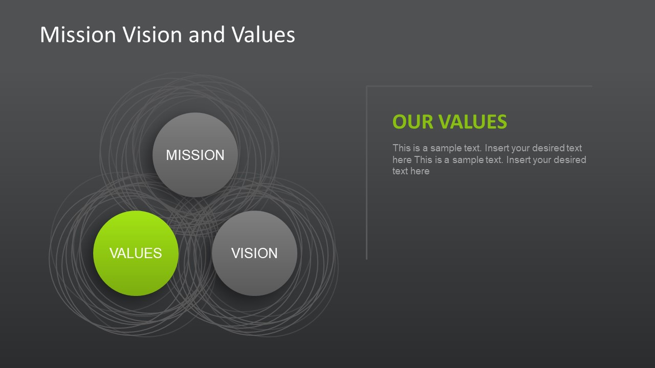 vector venn diagram farfisa door entry wiring diagrams mission, vision and values slides for powerpoint - slidemodel