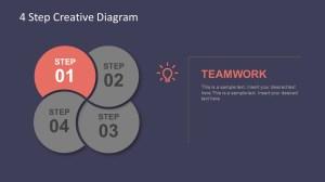 4 Step Creative Diagram Template for PowerPoint  SlideModel