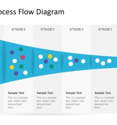 5 stage process flow diagram for powerpoint [ 1280 x 720 Pixel ]