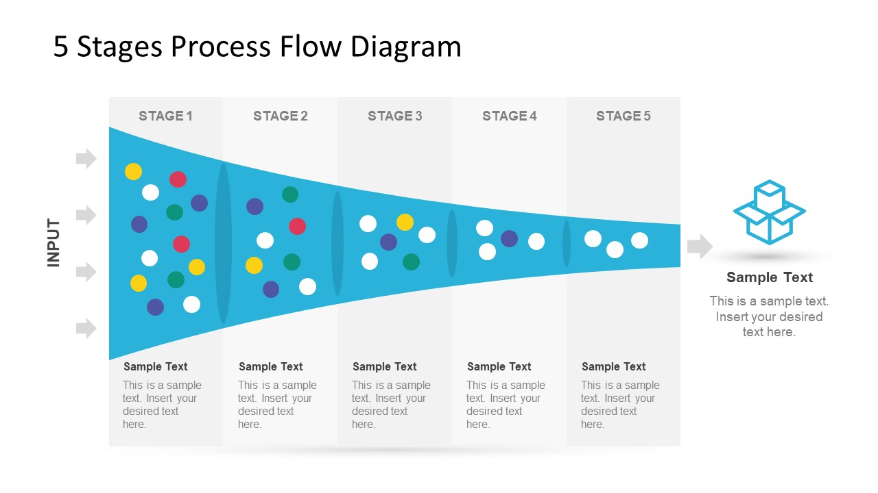 hight resolution of 5 stage process flow diagram for powerpoint