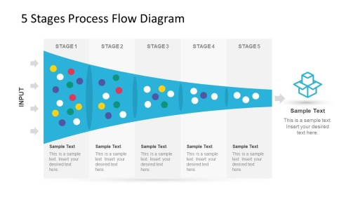 small resolution of 5 stage process flow diagram for powerpoint
