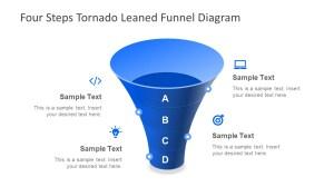 4 Step Tornado Leaned Funnel Diagram for PowerPoint  SlideModel